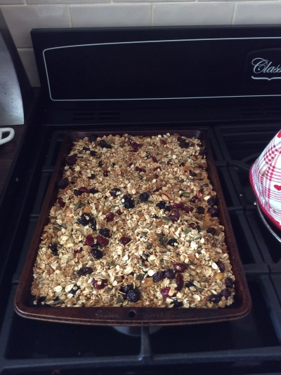 Fresh Granola, straight out of the oven!